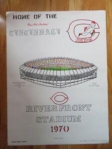 National Pastime 1970 RIVERFRONT STADIUM Home of CINCINNATI REDS Poster