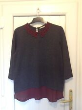 Grey tunic style top - size 18