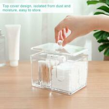 Large Acrylic Clear Qtip Makeup Storage Cotton Swab Hold Box Cosmetic Organizer