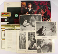 1984 Lucasfilm STAR WARS FAN CLUB KIT Indiana Jones Patch 8x10 Press Photos 1977