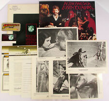 1984 Lucasfilm STAR WARS FAN CLUB KIT Indiana Jones Patch 8x10 Press Photos 1977