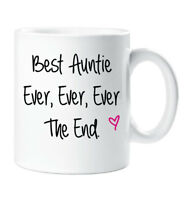 Best Auntie Ever Ever Ever The End Mug Mothers Day Gift Cup Ceramic Christmas Bi