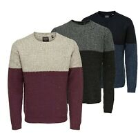 Only & Sons Mens Crew Neck Full Sleeves Knitted Pullover Jumper Sweater Tops
