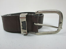 Levis Brown Leather Belt Distressed Size 32 Free Shipping
