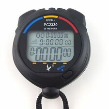 Fine Waterproof 3 Row Display 30 split recallable Swimming stopwatch Timer Pacer