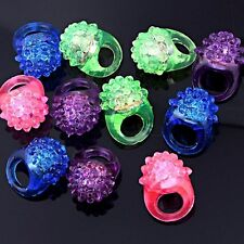 Flower LED Light Up Flashing LED Bumpy Jelly Ring (12 Pcs)