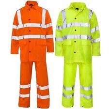 Hi Viz Waterproof Rainsuit Set High Vis Visibility Jacket & Trouser S - 4XL