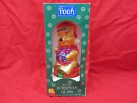 VTG SANTAS BEST POOH BEAR CHRISTMAS TREE ORNAMENT BLOWN GLASS HUNNY POT EUROPEAN