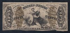 Us 50c Justice Fractional Currency 'Fiber Paper' 3rd Issue Fr 1357 Vf