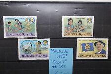 """MALDIVE ISL. 1987 """"SCOUT"""" MNH** SET (CAT.5)"""