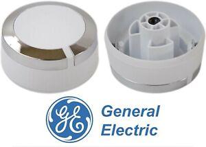 Genuine OEM GE WE01X24552 Dryer Timer Knob (White) New Free Shipping USA