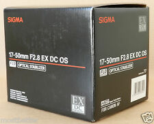 New Sigma 17-50 mm F/2.8 EX DC OS HSM Lens For Canon Free Shipping from Japan