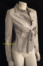 Extraordinary VALENTINO $3,400 Oyster Leather Empire JACKET Blouse Top Shirt