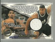 1998 Press Pass  TIM DUNCAN & MICHAEL OLOWOKANDI Double Threads Game Jersey /425
