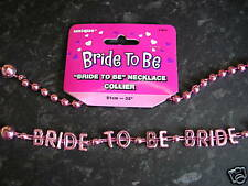 BRIDE TO BE PINK HEN NIGHT NECKLACE  MORE ITEMS INSTORE