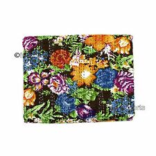 Twin Kantha Quilt Indian Bedding Handmade Bedspread Cotton Throw Bedcover