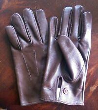 British Army Officers Warrant Officer Brown leather Gloves size Large only