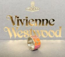 VIVIENNE WESTWOOD BAND RING Multicoloured Enamel Sterling Silver