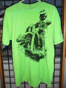 USA Vintage Sportwear MX Body Prints Short Sleeve Top Shirt T-Shirt Tee Green