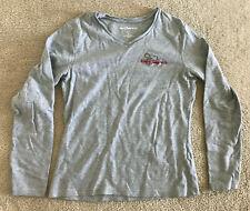 New listing Disney World Shirt Women's Medium Long Sleeve V Neck Mickey Mouse Gray Euc Walt