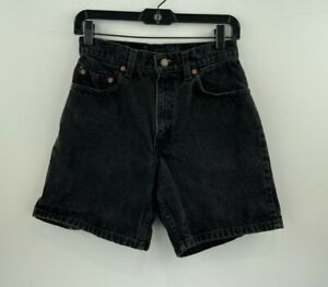 Vtg 90's Levis 550 Shorts 7 Womens Faded Black Mom High Waist Rise A28-06