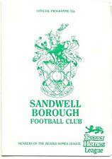 Sandwell Borough V Spalding Unidos octubre 1989 Beazer hogares Liga