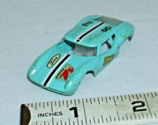 AURORA THUNDER JET T-JET LOLA GT HO SLOT CAR BODY 1960s IN BLUE