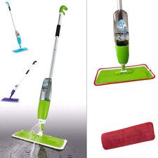 Spray Floor Mop Water Spraying Cleaner Refill Hard Tile Wood Microfiber Pad Set