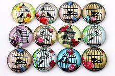 25mm fatto a mano vetro Cabochon   Misti Bird Cage Designs   10pcs