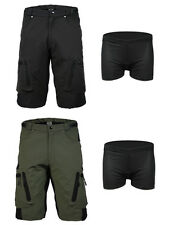 Men's Bike Shorts Baggy Cycling Shorts with 3D Padded Cycling Underwear 2 Colors