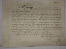 RFC/RAF Hand Signed King George V Commission Document Original WWI 1918.