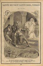 REIMS SAINT BEUVE & SAINTE DODA VIERGES ARTICLE DE PRESSE 1899 ?