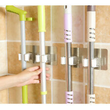 1/3pcs Wall Mounted Mop Organizer Holder Hanger Storage Rack Kitchen Tool yun-X
