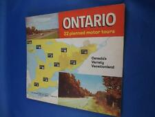 ONTARIO 22 PLANNED MOTOR TOURS BOOKLET DEPARTMENT TRAVEL MAPS PLACES OF INTEREST