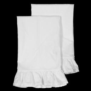Rachel ASHWELL Simply SHABBY Chic White Ruffled STANDARD Pillowcases