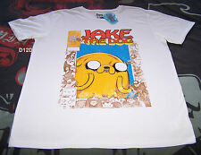 Adventure Time Mens Jake The Dog White Printed T Shirt Size M New