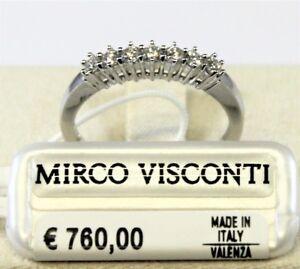 Anello oro bianco 18kt 750/°°° con Diamanti  MIRCO VISCONTI  GM96/10