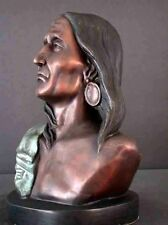 """Bronze Bust American Indian Western """"Silent Thunder"""""""