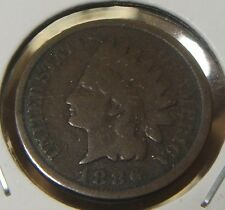 1886~~TYPE 2~~INDIANHEAD CENT~~VG-F