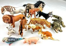 Schleich Collectible Animal Figures Lot of 13 Horses Bird White Tiger Lion Pig