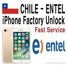 Chile Entel iPhone Unlock Service X 8 8+ 7 7+ 6S+ 6S SE 6 6+ 5S 5C 5 4S Premium
