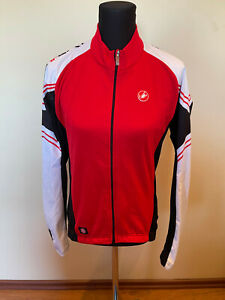 New Original Castelli Cycling Wind Stopper Jacket LONG SLEEVES SIZE L For Men