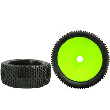 4X RC 1:8 Green Off Road Car Buggy Rubber Tires & Plastic Wheel Rims HUB HEX B