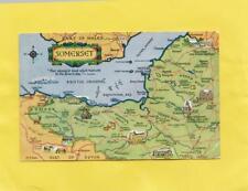 SOMERSET  POSTCARD MAP   &   BRISTOL CHANNEL       ( Y54 )