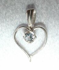 AZEZTULITE Crystal Heart Pendant - Sterling Silver + Certificate of Authenticity