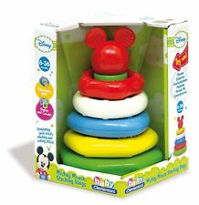 DISNEY BABY CLEMENTONI MICKEY MOUSE STACKING RINGS TOY - 6+ MONTHS NEW