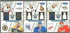 LOT OF (3) 2012/13 CERTIFIED PATH TO THE CUP DUAL JERSEYS LIDSTROM-THOMAS #/250