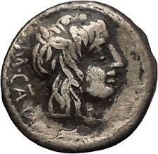 Roman Republic 89BC M. Cato Young Man Victory Quinarius Silver Roman Coin i52184