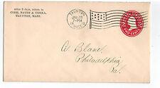 1910 Taunton to Philadelphia - Ad Cover COBB - FLAG CANCEL - 2 Cent Washington