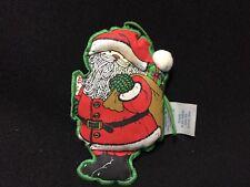 Vintage Hallmark Collectible Cloth Two Sided Santa Christmas Ornament